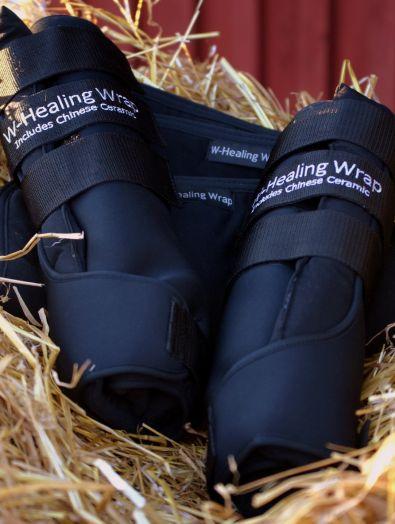 """Задние неопреновые согревающие ногавки для выездки """"W-Healing"""".  Пара"""