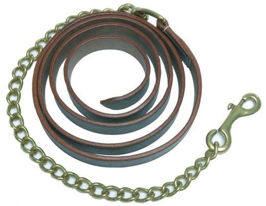 Чумбур кожаный W-PROFILE с цепочкой или двумя