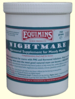 Equimins Nightmare Hormonal Mare Supplement - Успокаивающее средство для кобыл в охоте. 1,5 и 3 кг